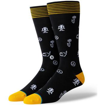 Textilní doplňky Muži Ponožky Stance Robot peace Černá