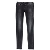 Textil Dívčí Rifle slim Pepe jeans PAULETTE Černá