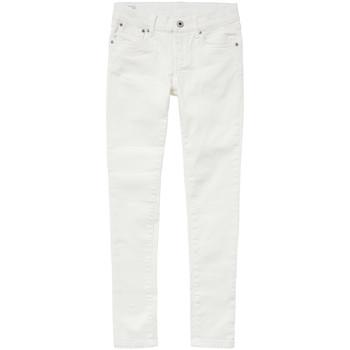 Textil Dívčí Rifle skinny Pepe jeans PIXLETTE Bílá