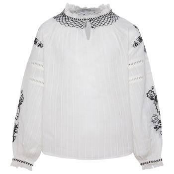 Textil Dívčí Halenky / Blůzy Pepe jeans RONIE Bílá