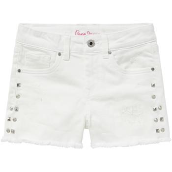 Textil Dívčí Kraťasy / Bermudy Pepe jeans ELSY Bílá