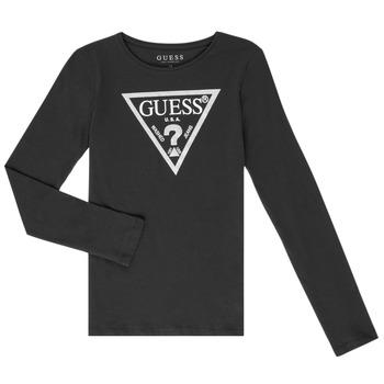 Textil Dívčí Trička s dlouhými rukávy Guess GARICE Černá