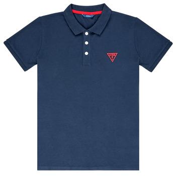 Textil Chlapecké Polo s krátkými rukávy Guess HOSNI Tmavě modrá
