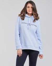Textil Ženy Mikiny Tommy Hilfiger TH ESS HILFIGER HOODIE LS Modrá / Nebeská modř