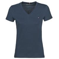Textil Ženy Trička s krátkým rukávem Tommy Hilfiger HERITAGE V-NECK TEE Tmavě modrá