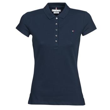 Textil Ženy Polo s krátkými rukávy Tommy Hilfiger HERITAGE SS SLIM POLO Tmavě modrá