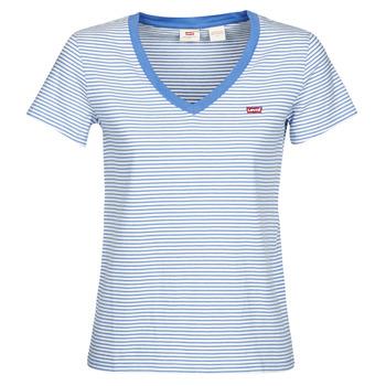 Textil Ženy Trička s krátkým rukávem Levi's PERFECT VNECK Bílá / Modrá