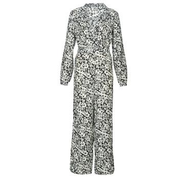 Textil Ženy Overaly / Kalhoty s laclem Only ONLOPHELIA Černá / Bílá