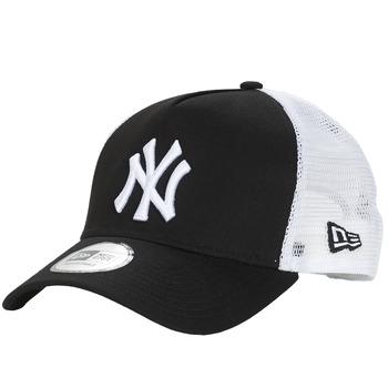 Textilní doplňky Kšiltovky New-Era CLEAN TRUCKER NEW YORK YANKEES Černá / Bílá