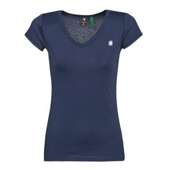 Textil Ženy Trička s krátkým rukávem G-Star Raw EYBEN SLIM V T WMN SS Modrá