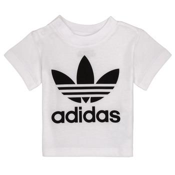 Textil Děti Trička s krátkým rukávem adidas Originals MAELYS Bílá