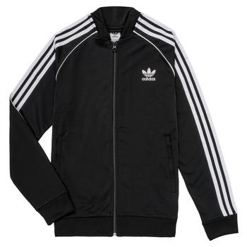 Textil Děti Teplákové bundy adidas Originals LYAM Černá