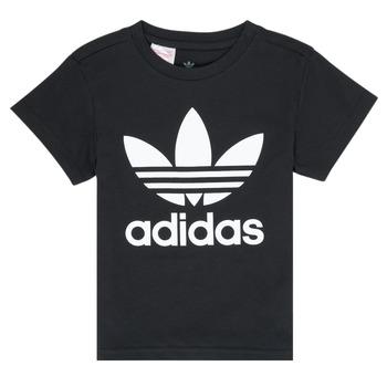 Textil Děti Trička s krátkým rukávem adidas Originals LEILA Černá