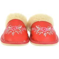 Boty Ženy Papuče John-C Dámske červené papuče KVET červená