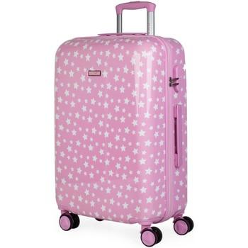 Taška Dívčí Kufry pevné Itaca STARS 66 litrů Růžové