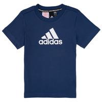 Textil Chlapecké Trička s krátkým rukávem adidas Performance BRIAN Tmavě modrá