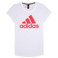 Textil Dívčí Trička s krátkým rukávem adidas Performance ELIOTE Bílá
