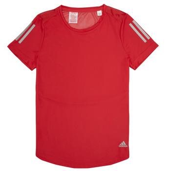 Textil Dívčí Trička s krátkým rukávem adidas Performance MELINDA Červená