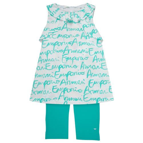 Textil Dívčí Set Emporio Armani Adel Bílá / Modrá