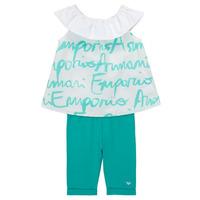Textil Dívčí Set Emporio Armani Alex Bílá / Modrá