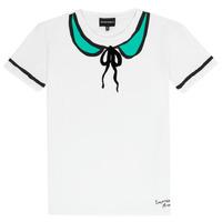 Textil Dívčí Trička s krátkým rukávem Emporio Armani Anthonin Bílá