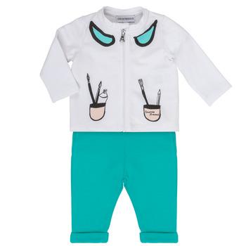 Textil Dívčí Set Emporio Armani Aubin Bílá / Modrá