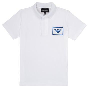 Textil Chlapecké Polo s krátkými rukávy Emporio Armani Aime Bílá