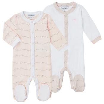 Textil Dívčí Pyžamo / Noční košile Emporio Armani Alec Růžová