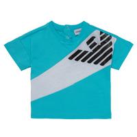 Textil Chlapecké Trička s krátkým rukávem Emporio Armani Alois Modrá / Bílá
