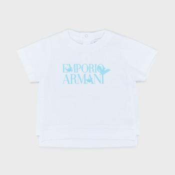 Textil Chlapecké Trička s krátkým rukávem Emporio Armani Arthus Bílá