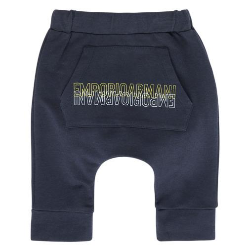 Textil Chlapecké Teplákové kalhoty Emporio Armani Avery Tmavě modrá