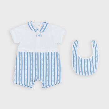 Textil Chlapecké Overaly / Kalhoty s laclem Emporio Armani Adam Modrá