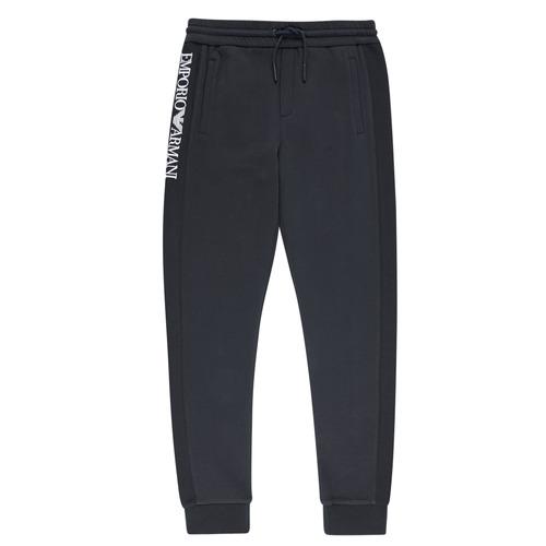 Textil Chlapecké Teplákové kalhoty Emporio Armani Anderson Tmavě modrá