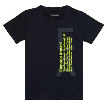 Textil Chlapecké Trička s krátkým rukávem Emporio Armani Andoni Tmavě modrá