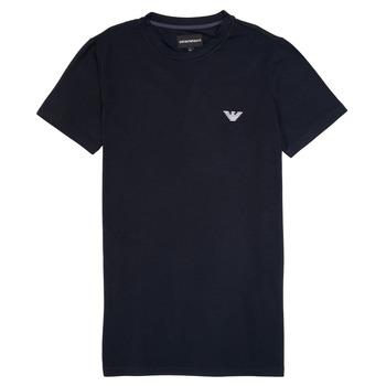 Textil Chlapecké Trička s krátkým rukávem Emporio Armani Benoit Tmavě modrá