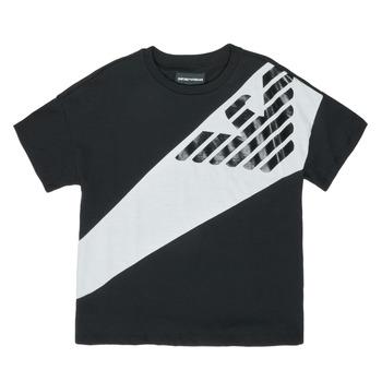 Textil Chlapecké Trička s krátkým rukávem Emporio Armani Blaise Černá / Bílá