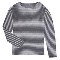 Textil Dívčí Trička s dlouhými rukávy Only KONNELLY Bílá / Tmavě modrá