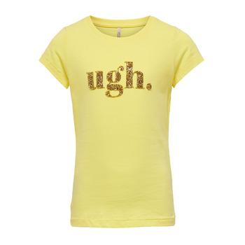 Textil Dívčí Trička s krátkým rukávem Only KONJULLA Žlutá