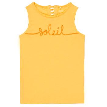 Textil Dívčí Tílka / Trička bez rukávů  Name it NKFFAMILA Žlutá