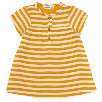 Textil Dívčí Krátké šaty Noukie's YOUNES Žlutá
