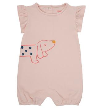 Textil Dívčí Overaly / Kalhoty s laclem Noukie's ISAAC Růžová