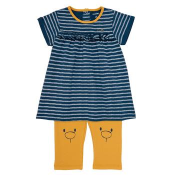 Textil Dívčí Krátké šaty Noukie's AYOUB Modrá / Žlutá