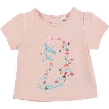 Textil Dívčí Trička s krátkým rukávem Carrément Beau JUSTINE Růžová