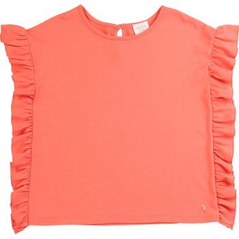 Textil Dívčí Trička s krátkým rukávem Carrément Beau LEANA Růžová