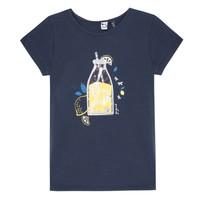 Textil Dívčí Trička s krátkým rukávem 3 Pommes LOGAN Modrá