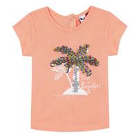 Textil Dívčí Trička s krátkým rukávem 3 Pommes EMMA Oranžová