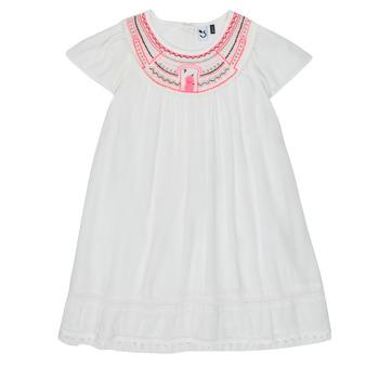 Textil Dívčí Krátké šaty 3 Pommes LAURA Bílá