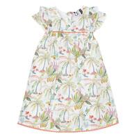 Textil Dívčí Krátké šaty 3 Pommes SANDRINE Bílá
