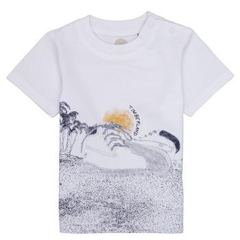 Textil Chlapecké Trička s krátkým rukávem Timberland ANTONIN Bílá