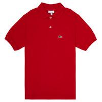 Textil Chlapecké Polo s krátkými rukávy Lacoste VINNIE Červená